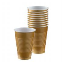 Gold Plastic Cups (10)